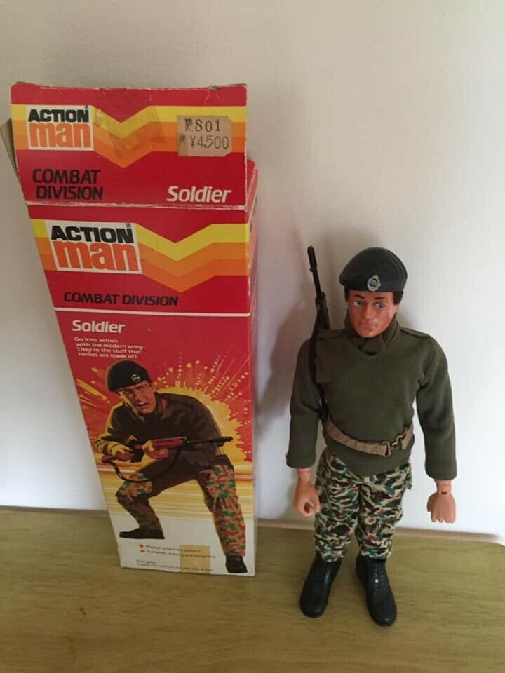 VINTAGE ACTION MAN SOLDIER BOXED MINT EEBP PALITOY