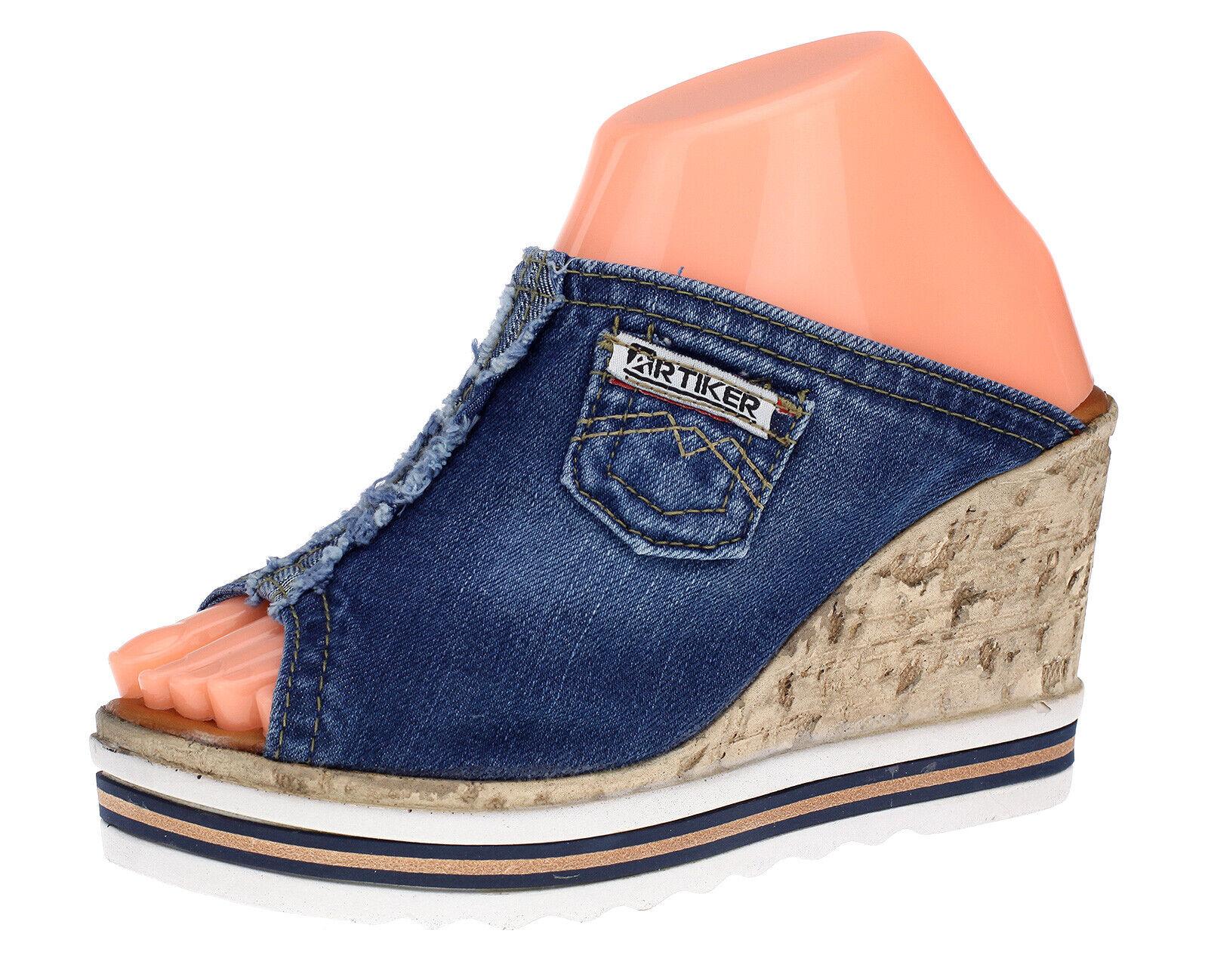 Artiker chaussures femmes keilpantoletten Sandales Semelle Talon Compense Compenses Plateforme 0243
