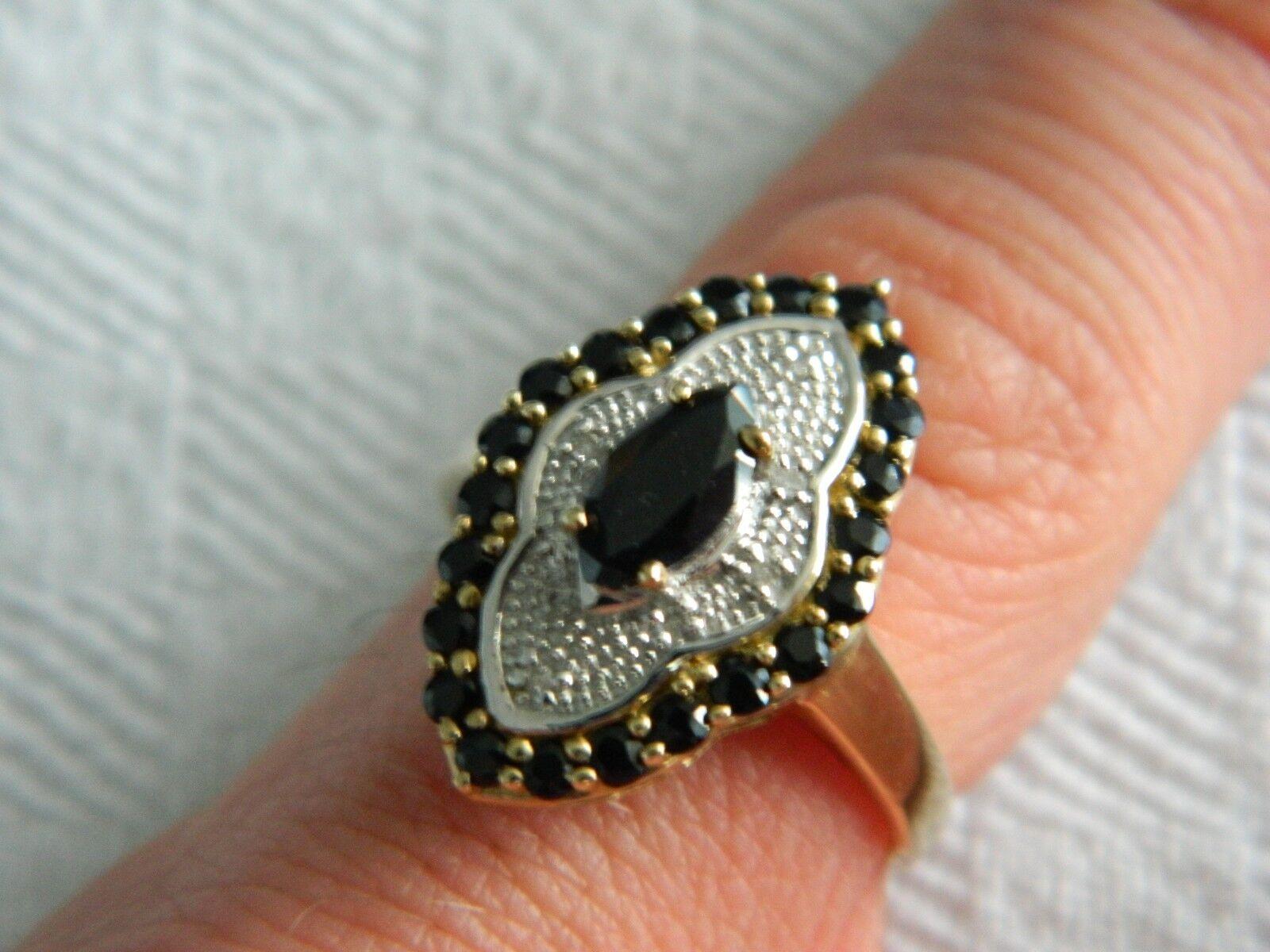 9ct Yellow gold 1.83ct Sapphire & 0.04ct Diamond Ring RRP .99 size P