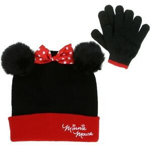 a615f81fdfb Image is loading MINNIE-MOUSE-GIRLS-WINTER-HAT-amp-GLOVES-SET
