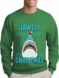 image is loading jawlly christmas ugly christmas sweater for xmas party - Shark Christmas Sweater