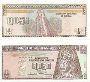 Guatemala-0-50-Quetzal-16-7-1992-UNC-Pick-79
