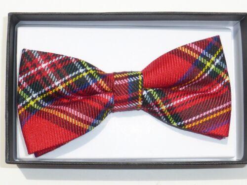 New Men Scottish Tartan Plaid Checkered Check Pre Tied Neck Bow Tie Bowtie