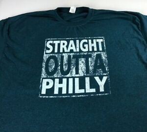 Straight-Outta-Philly-T-Shirt-Mens-2XL-3XL-City-NFL-Football-Philadelphia-Eagles