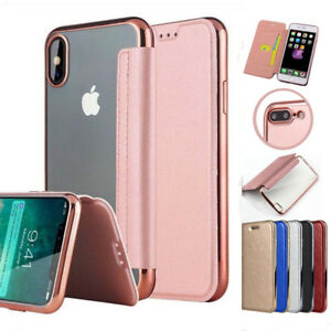 iphone xr case flip cover clear