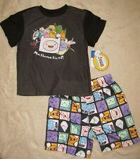 ADVENTURE TIME *Jake & Finn* Mathematical!* 2pc S/S Shirt Pajamas Pjs sz 6/7