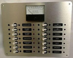 marine circuit breaker panel dc distribution with analog. Black Bedroom Furniture Sets. Home Design Ideas
