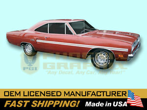 1970 Plymouth GTX REFLECTIVE Decals & Mid Body Stripes Kit