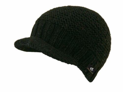 Strickmütze chillouts Schildmütze Cap mit Schirm Wintermütze Mütze Wollmütze