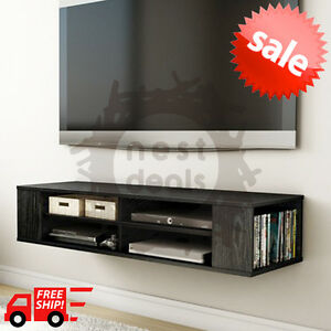 Image Is Loading Wall Mount Media Center  Shelf Floating Entertainment Console