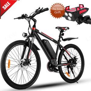 """Max 1000W 26"""" Electric Bike Mountain Bicycle Commuter Ebike 48V 10Ah Li-Battery"""