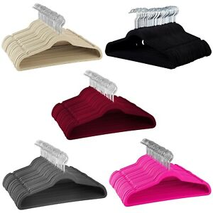 Non-Slip-Velvet-Hangers-Suit-Hangers-Ultra-Thin-Space-saving-Durable-Hangers