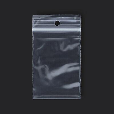 "1000 qty 3/"" x 8/"" Reclosable Clear Plastic Zipper Bags 2 Mil"