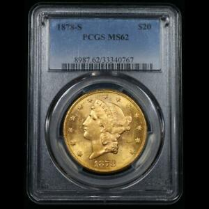 ms62 PCGS 1878-s Gold Liberty Head Double Eagle $20 Exceptional for Grade