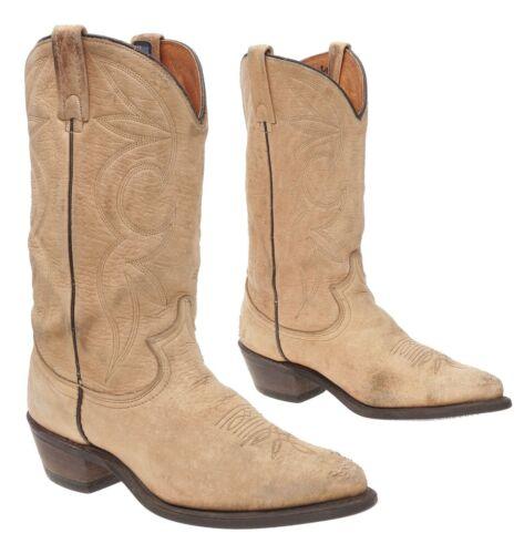 Vtg DINGO Cowboy Boots 7 M Womens ELK/DEER Leather