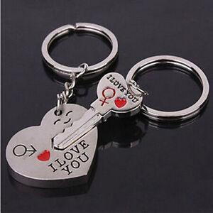 New-034-I-Love-You-034-Heart-Arrow-Key-Couple-Key-Chain-Ring-Keyring-Keyfob-For-Lover