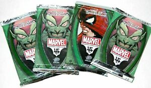 Vs System Web Marvel Trading Card Game Booster Paquete X 4
