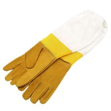 A Pair Bee Gloves Protective Beekeeping Gloves Goatskin Bee Keeping Vented Long