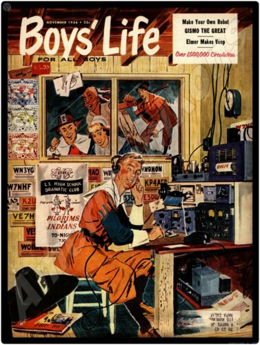 1956 Boy/'s Life Magazine NEW Metal Sign Short Wave Radio /& Thanksgiving Theme