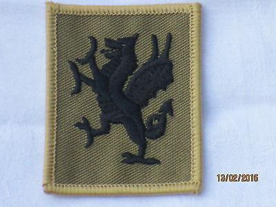Royal Welsh Regiment, TRF,Abzeichen,Patch,khaki