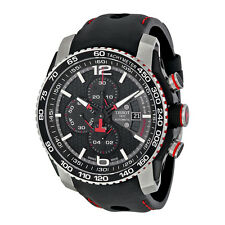 Tissot PRS 516 Extreme Automatic Chronograph Black Dial Black Rubber Mens Watch