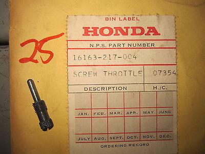 HONDA THROTTLE STOP SCREW CB72 CB77 CB92 CB160 CB100 CL CT CM 16163-217-004 NOS