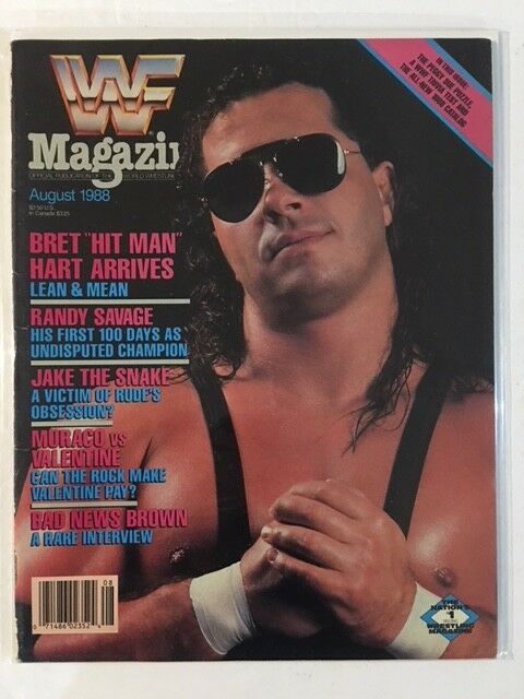 WWF Magazine 1988 August Bret Hit Man Hart Randy Macho Man Savage WWE nWo WCW