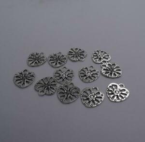 10pcs-Antique-silver-plated-nice-hollow-heart-leaf-charm-pendant-T0603