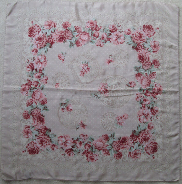 -foulard Soie Tbeg Vintage Scarf 85 X 87 Cm