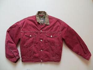 Levi-039-s-Jacke-Jeansjacke-Gr-M-ROT-Vintage-red-Coloured-Denim-Warm-gefuettert