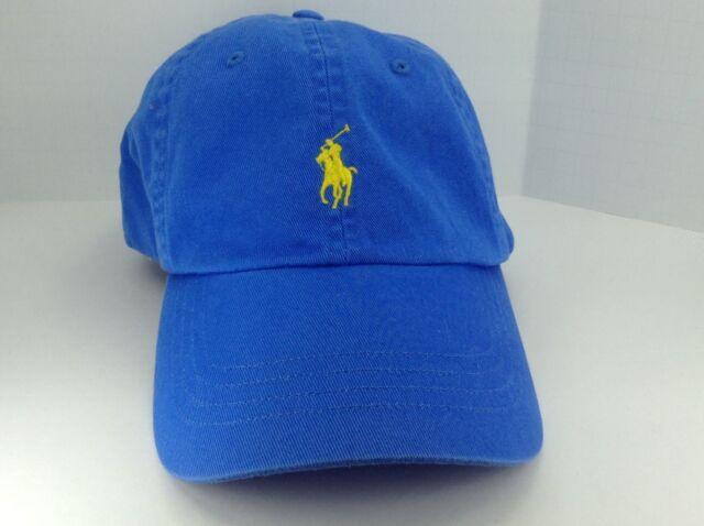 c6e04173fa1 Ralph Lauren Polo Cap Hat JEWEL Blue W gold Small Pony One Size ...