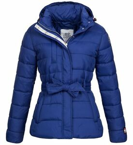 crosshatch limoges blue puffa padded quilted hooded jacket small uk 10
