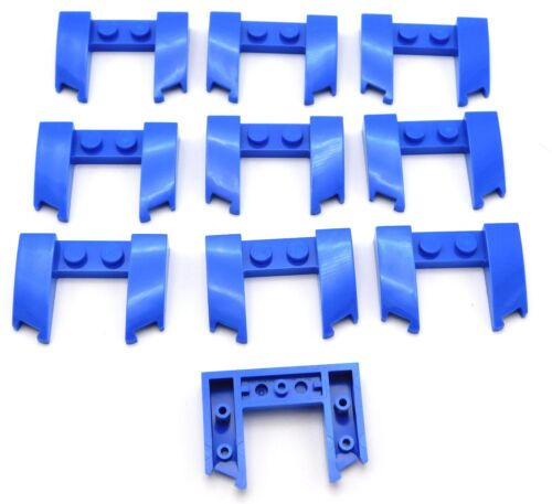 Lego Lot of 10 New Blue Wedge 3 x 4 x 2/3 Cutout Car Pieces Parts