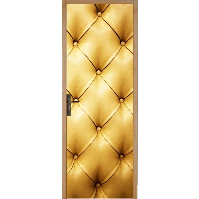 Aufkleber für Tür Tür Tür Flach, Gepolstert Golden 312 a95c77