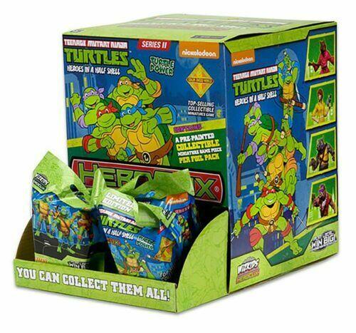 Nuevo Heroclix  Teenage Mutant Ninja Turtles Set 2 Caja de 24 paquetes de alimentación por gravedad