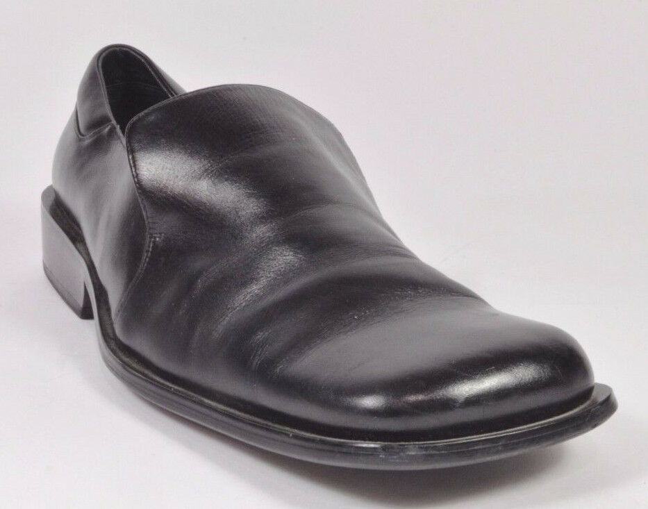 Bardelli Beverly Hills HANDMADE Mens Leather Slip-on shoes 9.5 Black USED