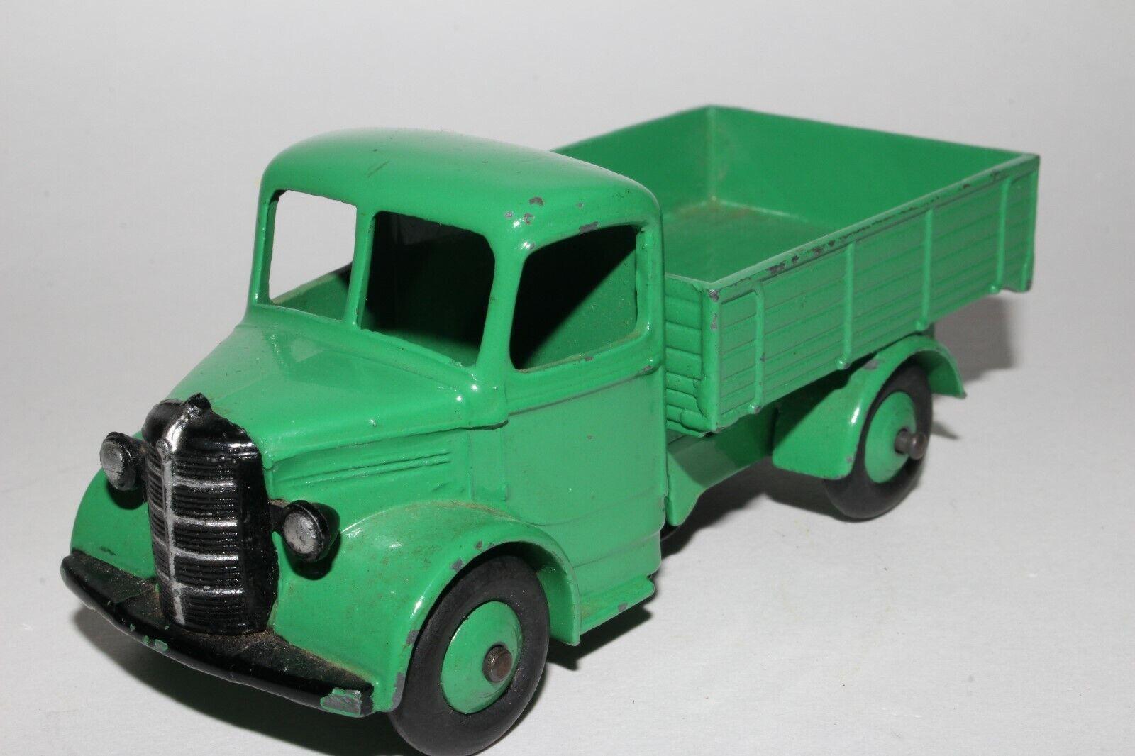 Década de 1950 Dinky Juguetes  411 Bedford Camión de lecho fijo, verde medio, agradable Original