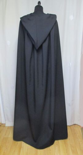 GRANDE nera con cappuccio Cape Mantello//Mantello Di Halloween-DRACULA-Costume UK Made