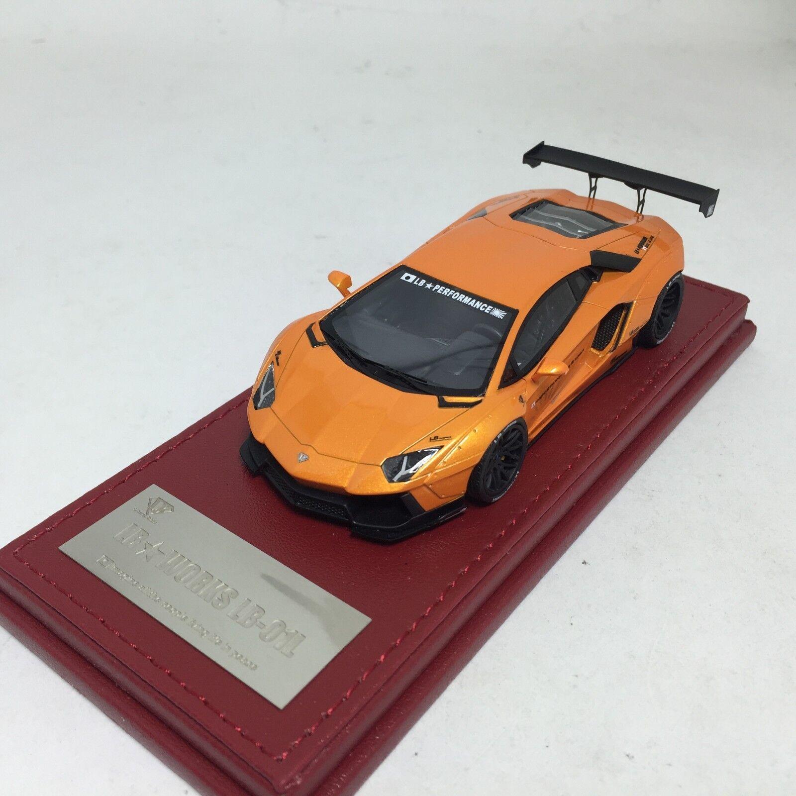 1 43 Hi-Story LB Works Lamborghini Aventador Lp700-4 Pearl Orange