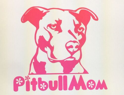 Pitbull mom vinyl decal-any color