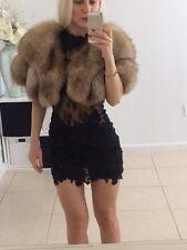Genuine Fox fur bolero jacket size S-M