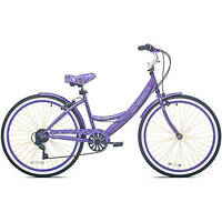 26 Women's Kent Bayside Cruiser Bike Shimano 7-speed Aluminum Frame Purple