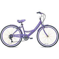 26 Women's Kent Bayside Cruiser Bike Shimano 7-speed Aluminum Frame Purple