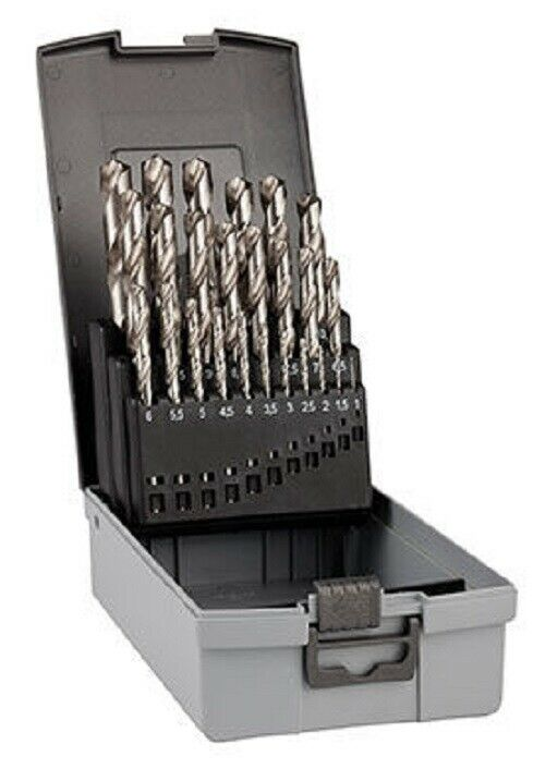 Bosch METAL DRILL BIT SET 1mm-13mm 25Pieces Two Flutes, Cylindrical Shank