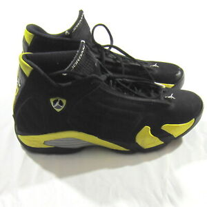 promo code dbfd1 d68a9 Details about Nike Air Jordan Sneakers XIV 14 Retro Thunder 487471-070  Black Yellow 23 Size 12