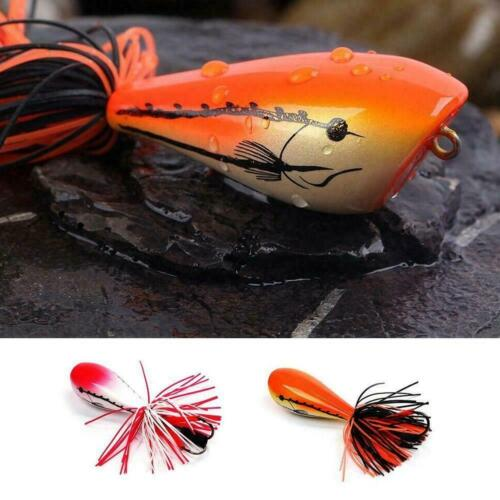 Jumping Frog Lure Topwater Lure 90mm 10g Double Strong U7N3 Actions Jump Ho W1H2