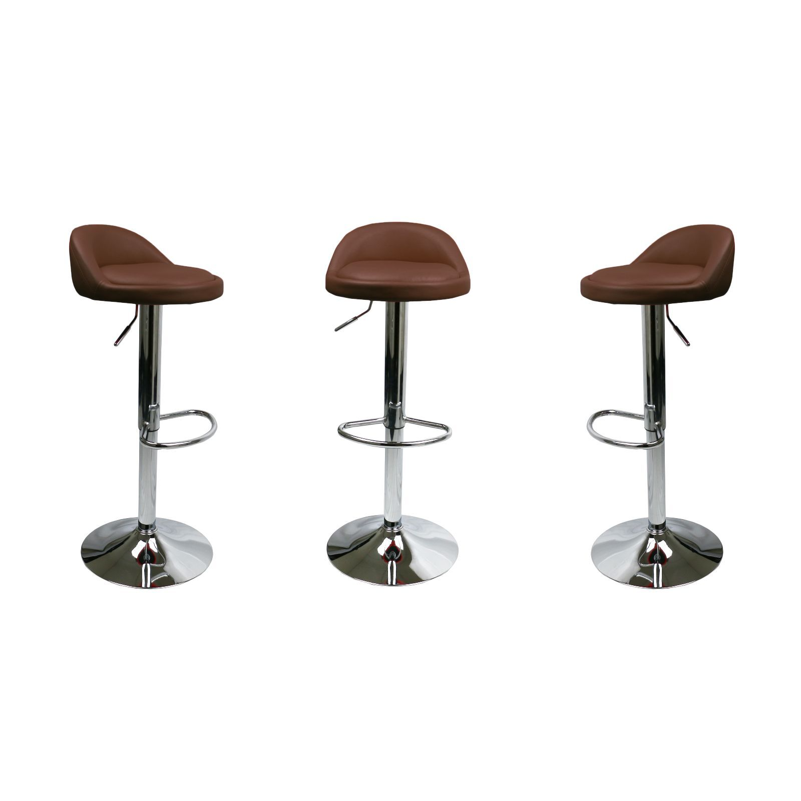 set of  brown leather bar stools swivel dinning counter  - set of  brown leather bar stools swivel dinning counter adjustable heightchair