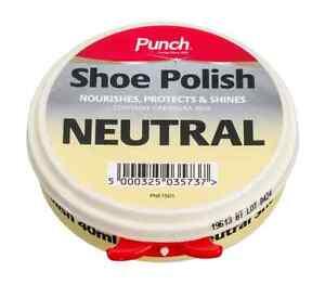 Punch 40 ml Neutro Cera Muy Brillante zapato bota Pulimento Limpiador-1801200103