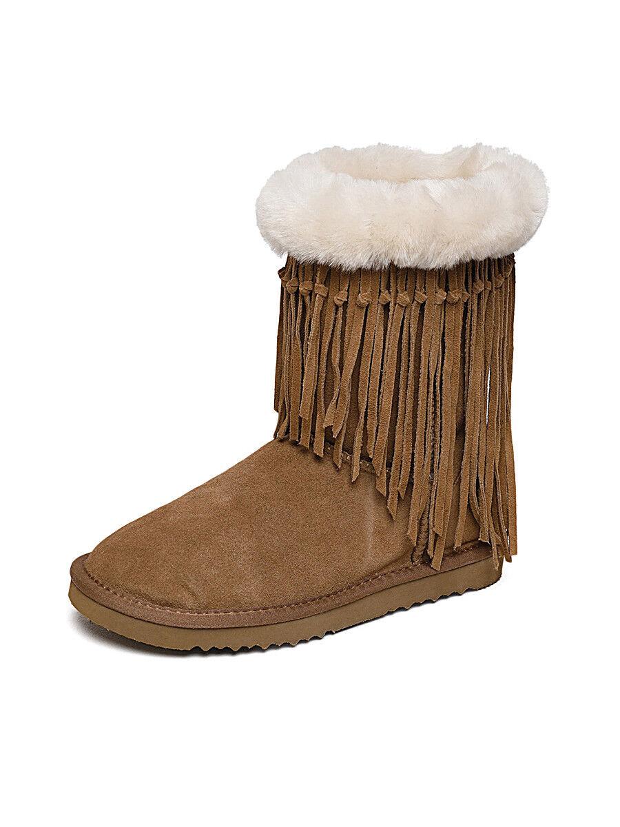 Tan Tan Tan Sheepskin Fringe Winter Boots 51fd68