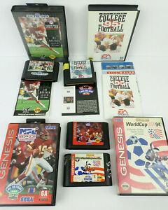 4 SEGA Genesis Sports World Cup 94; NFL 94; Sports Talk 93; Bill Walsh LOT I